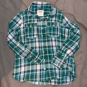Mossimo Flannel Shirt Woman's XL Green Plaid